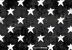 Vector Grunge White Stars Pattern