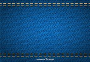 Textura abstracta del vector de dril de algodón azul