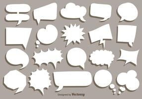Vector Collection Of White Speech Bubbles
