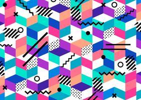 Vector o teste padrão colorido geométrico