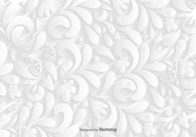 Vector White Ornamental Background
