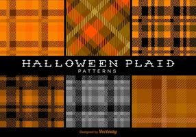 Halloween Trendy-Plaid-Muster Vektor Hinter