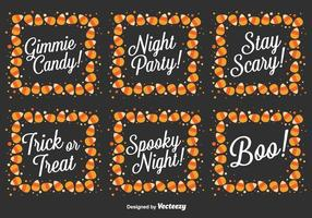 Vector ensemble de messages d'Halloween