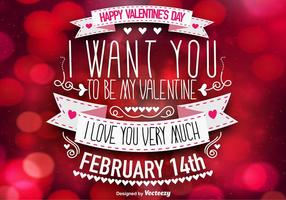 Beautiful Valentine's Day Template - Vector