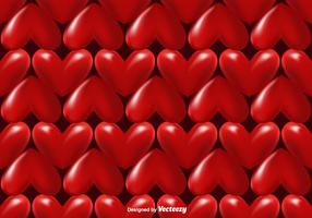 Vector 3d Hearts Seamless Pattern