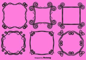 Vector Ornamental Love Frames