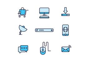 Iconos gratis de Internet vector