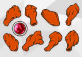 Vector Of Buffalo Wings