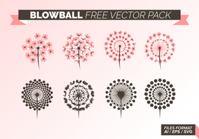 Blowball gratuit Vector Pack