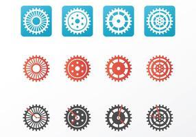 Piezas brillantes del reloj Vectores
