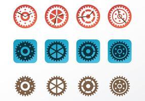 Piezas de reloj Vectores