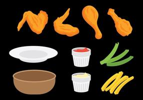 Gratis Buffalo Wings Icons Vector