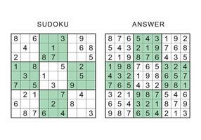 Jogo Sudoku vetor