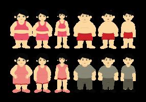 Desenhos animados Slimming Vector