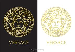 Golden Versace Logo Vector