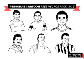 Personas Cartoon Free Vector Pack Vol. 5