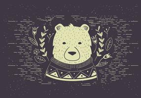 Free Vector Polar bear Illutration
