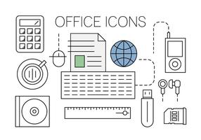 Iconos gratis Office vector