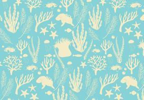 Vector patrón de fondo marino