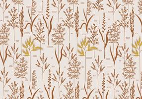 Sea Oats Motif Vector