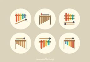 Piso libre Marimba iconos vectoriales