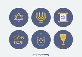Judíos libres de vectores iconos