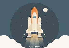 Free Spaceship Launch Vector Illustration