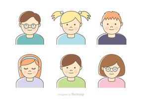 Gratis Kids Vector Headshots