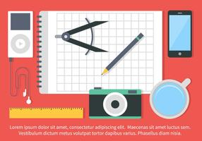 Gratis Vector Flat Design School Elements