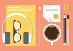 Gratuit Workstation Flat Vector Elements