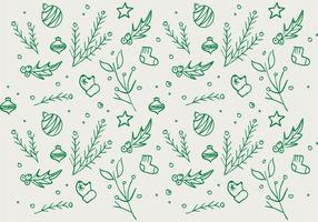 Christmas Hand Drawn Pattern Background