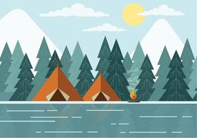 Gratis Landschap Vector Illustration