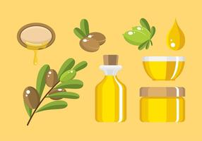 Argan Product Flat Gratis Vector