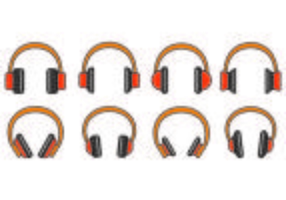 Set Of Head Phone Icons