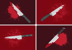Bloody Knife Crime Concept