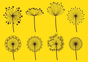 Dandelion Fluff Sets vector