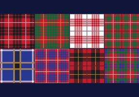 Lumberjack Tartan and Buffalo Check Plaid Patterns vector