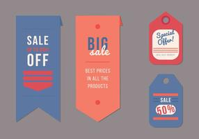 Etiquetas Sash Verkauf Vektoren