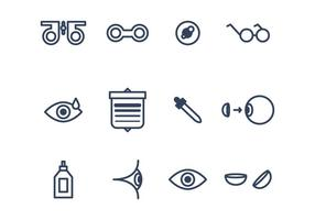Set van Icons Eye