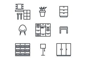 Cuarto de vestir Icon Set