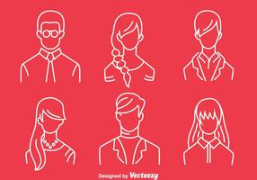 People Headshot Line Vector