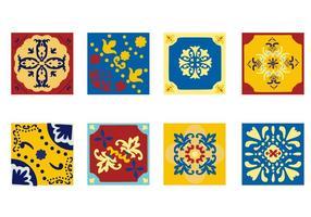 Azulejo portugués Azulejo libre del vector