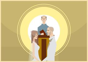 Wedding Ceremony Illustration