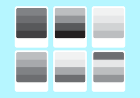 The Color Palette Of Grey Gradient Vector