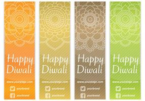 Diwali Bookmarks vector