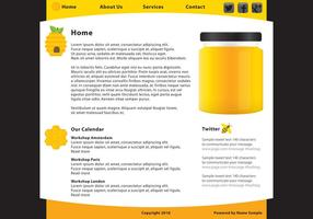 Miel alimentaire Web Page Template Vecteur
