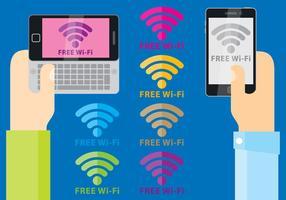 Wi-Fi gratuito Símbolo Vectores