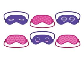 Cute Pink and Purple Sleep Mask Vector