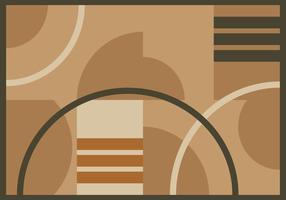 Freie Minimalistic Bereich Teppich Vektor
