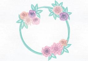 Vector Aquarelle Wreath